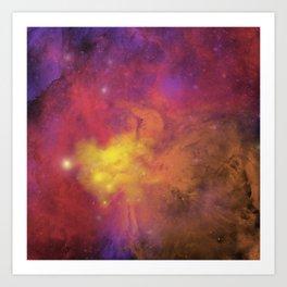 Nebula (plain) Art Print