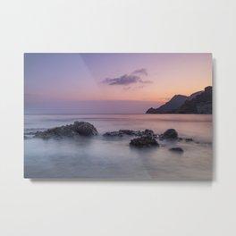 Purple sea. Half Moon beach. Metal Print