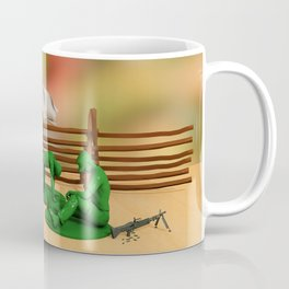 Toy Soldiers - Defeated - Anti-War Political Artwork Coffee Mug