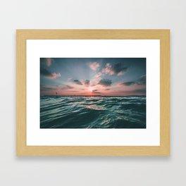 Deep Green Float Framed Art Print