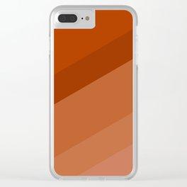 Colorblock in Retro Orange Clear iPhone Case