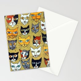 25 Cat Heads Stationery Cards