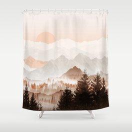 Cinnamon Peak Shower Curtain