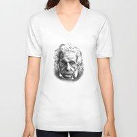 einstein V-neck T-shirts featuring Einstein by Jaume Tenes