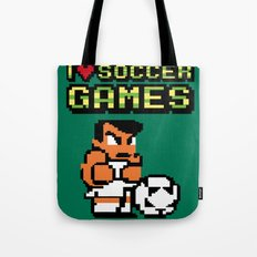 I Love Soccer Games Tote Bag