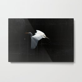Great Heron In Flight Metal Print
