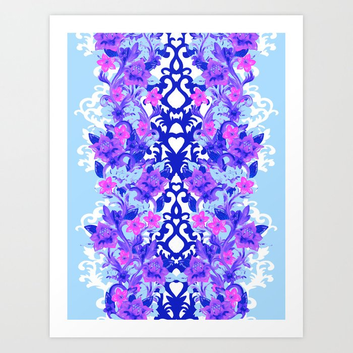 Baroque Blue Art Print
