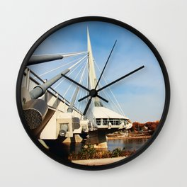 Esplanade Riel Suspension Bridge Wall Clock