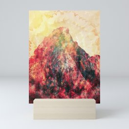 Red peak Mini Art Print