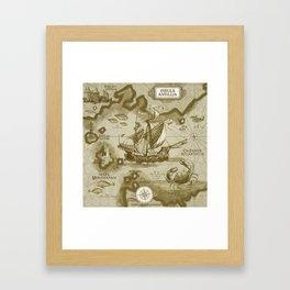 Insula Antillia Framed Art Print