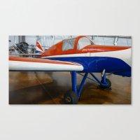 plane Canvas Prints featuring plane by sannngat