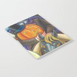SLEEPY HOLLOW WEDDING - Brack Headless Horseman Halloween Art Notebook