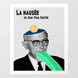 Nausea by Jean-Paul Sartre Art Print