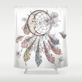 Moon Dreamcatcher Shower Curtain