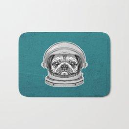 Astronaut Pug Bath Mat