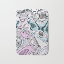 Abstract Liquid Gems 1 Bath Mat