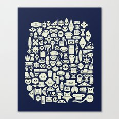 Shapes With Faces Canvas Print