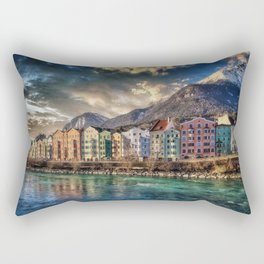 Riverside Innsbruck, Austria Photographic Rectangular Pillow