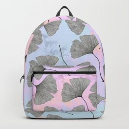 biloba on pastel pink and baby blue watercolor background Backpack