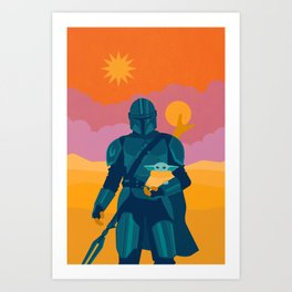 """Mando and Child"" by Sabrena Khadija Art Print"