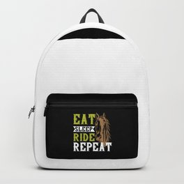 Horse - Eat Sleep Ride Repeat Backpack