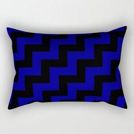 Black and Navy Blue Steps RTL Rectangular Pillow