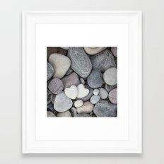Heart Pebble Stone Mineral Love Symbol Framed Art Print
