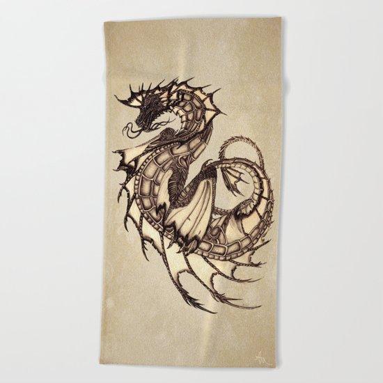 Tsunami Sea Dragon Beach Towel