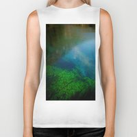 underwater Biker Tanks featuring underwater by habish