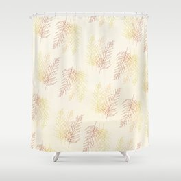 Red Ferns All Over Shower Curtain