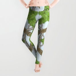Bark Leaves Stone Kaleidoscope Art 1 Leggings