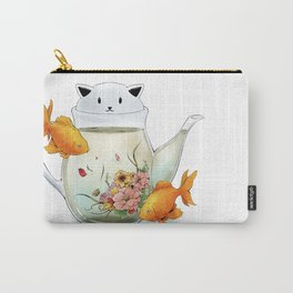 Flowering Tea in a Cat Teapot Carry-All Pouch