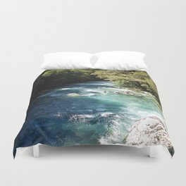 Lake Marian, New Zealand Duvet Cover