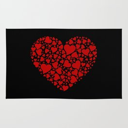 HEART MADE OF RED HEARTS Rug