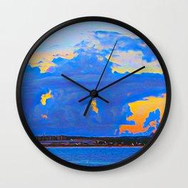 Caribbean Blue Wall Clock