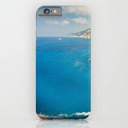 Wild beautiful bay near Porto Katsiki in Lefkada, Greece iPhone Case
