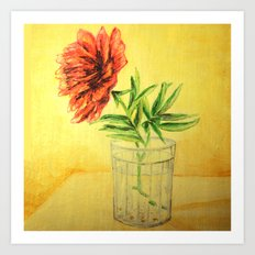 flower in a glass Art Print