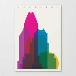 Shapes of Montreal. Accurate to scale. Canvas Print