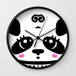 Panda Blush Wall Clock