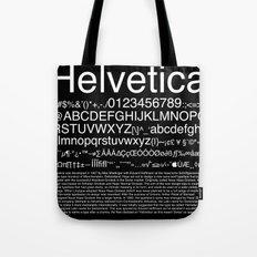 Helvetica (White) Tote Bag