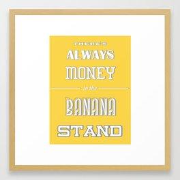 Banana Stand (Arrested Devt) Framed Art Print