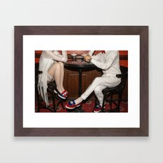I'd like to take you on a date. Sixteen past eight Framed Art Print