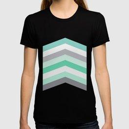 Mint and gray chevron T-shirt