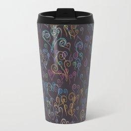 Pixelated Spirals Travel Mug