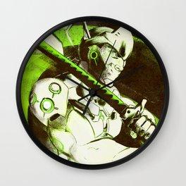 Cyborg Ninja Genji Wall Clock