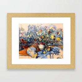 "Paul Cezanne ""A Large Bouquet of Flowers "" Framed Art Print"