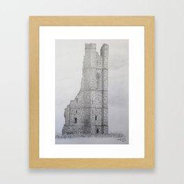 """The Yellow Steeple"" Framed Art Print"