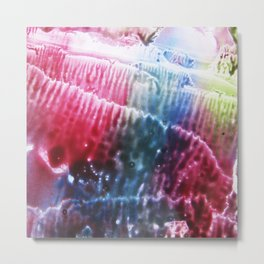 abstract composition of red and blue colours Metal Print