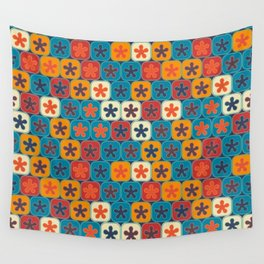 Blobs and tiles Wall Tapestry