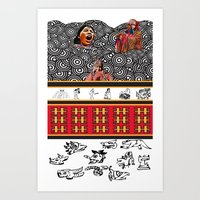 ethnic Art Prints featuring ETHNIC by CaritoMo